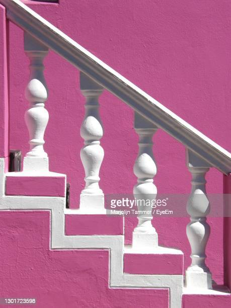 colorful close-up of stairs - millennial pink stock pictures, royalty-free photos & images