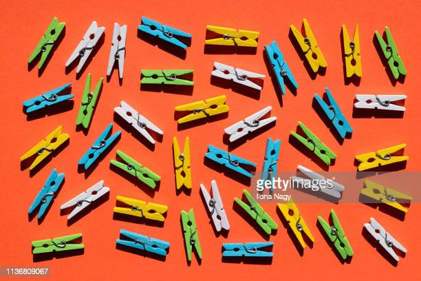 colorful clothespins - clothespin stock pictures, royalty-free photos & images