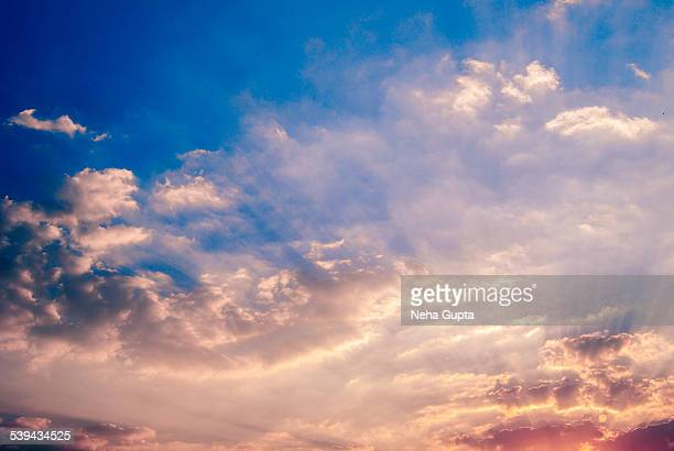 colorful clouds - neha gupta stock pictures, royalty-free photos & images