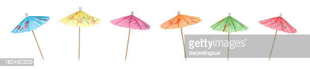 colorful cocktail umbrellas - parasol stock pictures, royalty-free photos & images