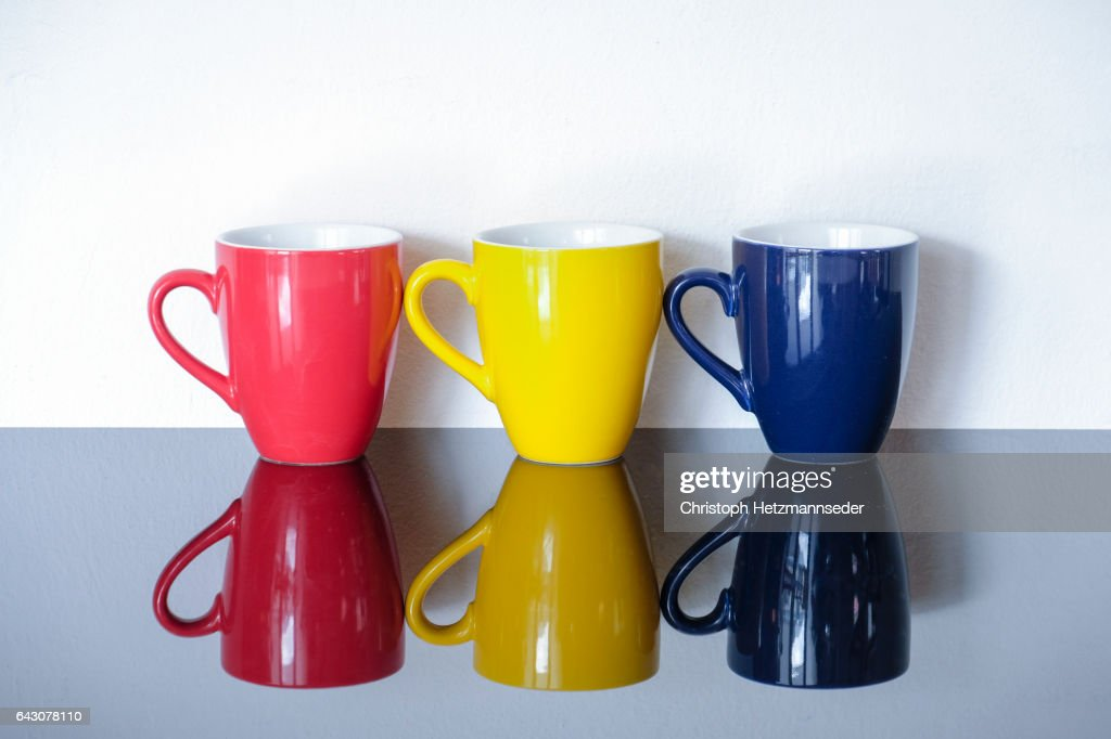 colorful coffee cups stock photo getty images