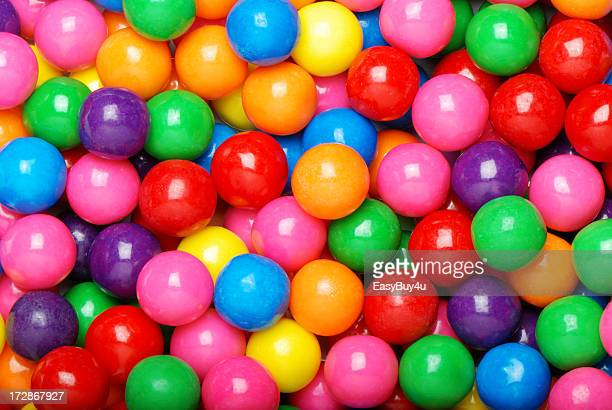 Colorful collection of gum balls
