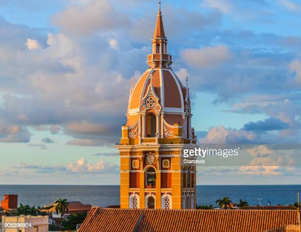 colorful colonial architecture in cartagena, colombia - colombia stock pictures, royalty-free photos & images