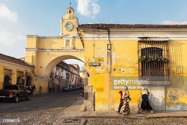Colorful colonial buildings line the streets