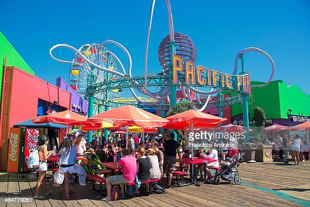 Colorful color of input amusement park Santa Monica Pier Los Angeles California USA