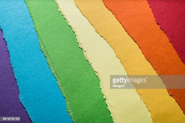Colorful Construction Paper Torn Pieces
