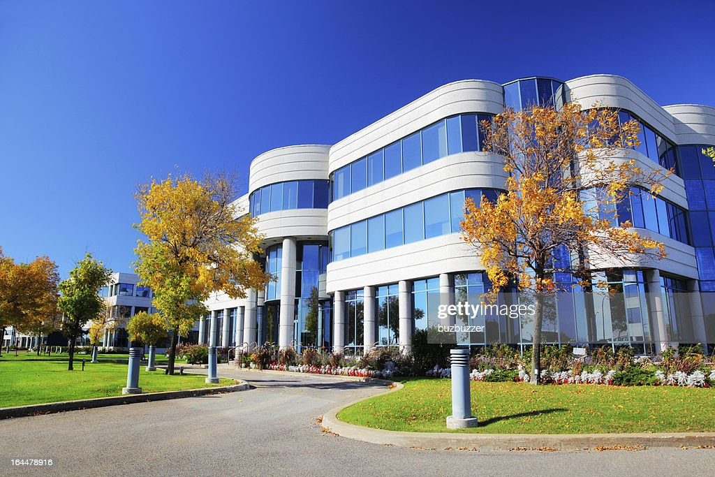 Colorful Corporate Building at Fall : Stock Photo