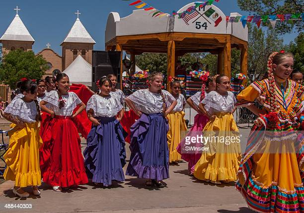 Colorful Costumes Used in Authentic Mexican Folk Dancing