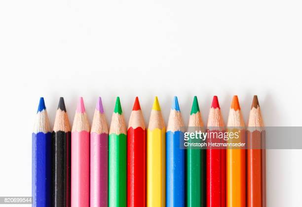 colorful crayons - color pencil stock pictures, royalty-free photos & images