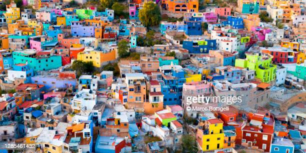 colorful crowded houses - awe stock pictures, royalty-free photos & images
