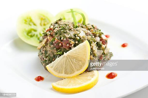 Colorful culinary image of tabbouleh