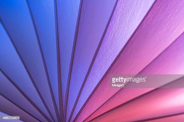 Colorful curvy bookpaper edge