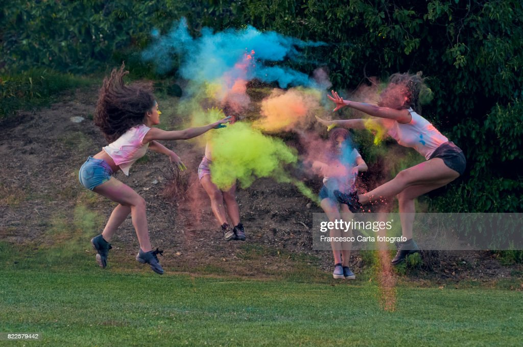 Colorful dance : Stock Photo