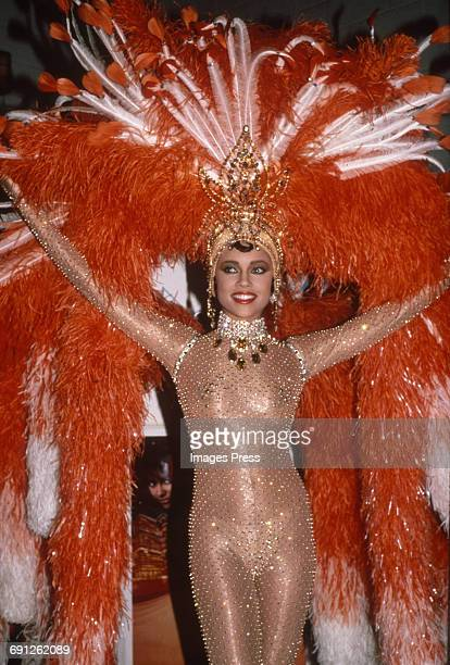 A colorful dancer at the Grand Reopening of the Apollo Theater circa 1985 in New York City