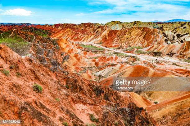 Colorful Danxia landform in Zhangye,Gansu,China.