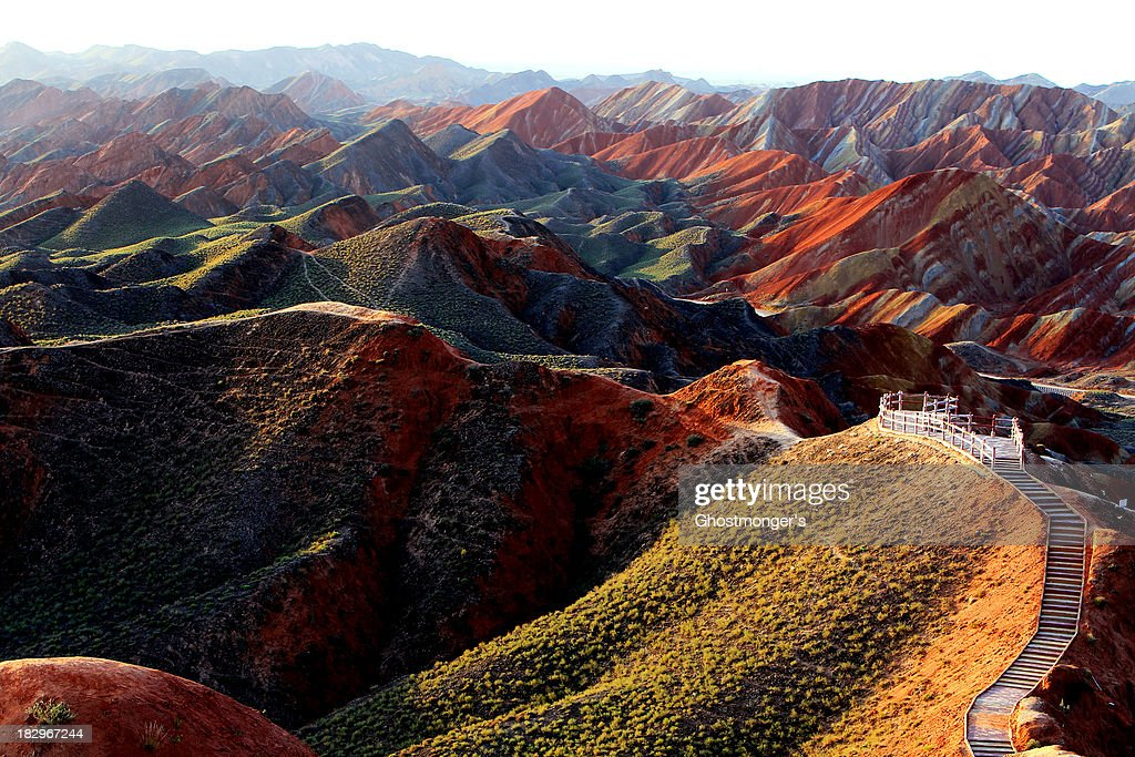 Colorful Danxia Landform : ストックフォト