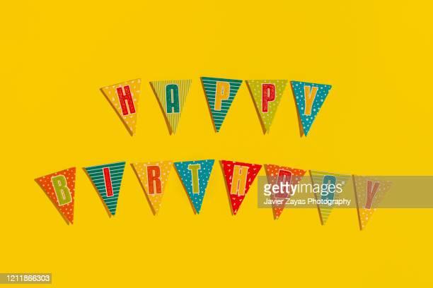 colorful decoration during birthday party - aniversario fotografías e imágenes de stock