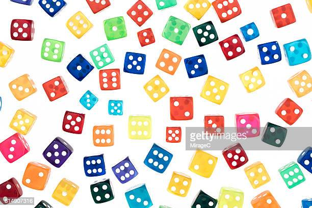 colorful dices pattern - game board stock photos and pictures