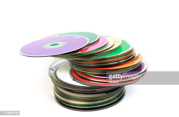 colorful disks - compact disc stock pictures, royalty-free photos & images