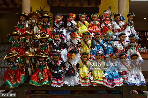 CONTENT] Colorful display of Mexican Dolls in traditional costumes