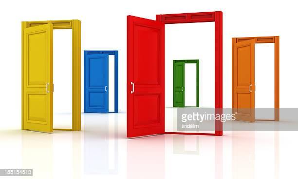 Des portes colorées