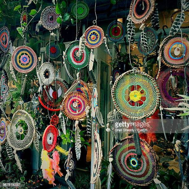 Colorful Dreamcatchers For Sale At Street Market