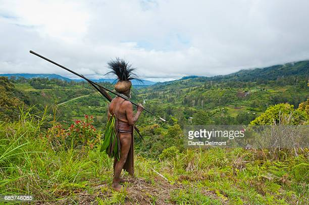 Colorful dressed local tribal chief, Highlands, Papua New Guinea