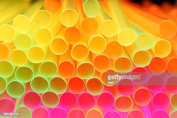 colorful drinking straw - shallow focus - pejft stock pictures, royalty-free photos & images