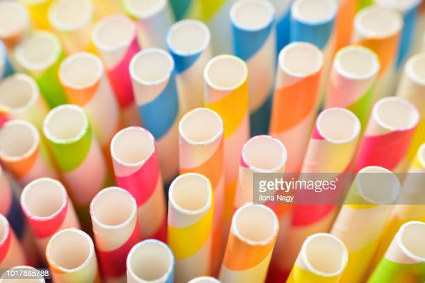 colorful drinking straws - drinking straw stock pictures, royalty-free photos & images