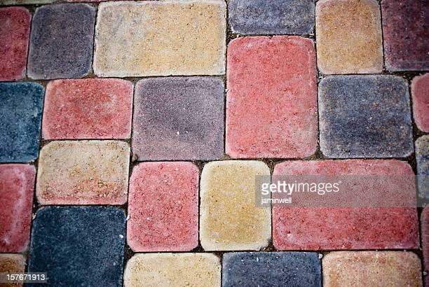 colorful earth tone clay cobblestones