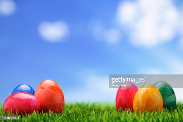 Bunte Easter Eggs
