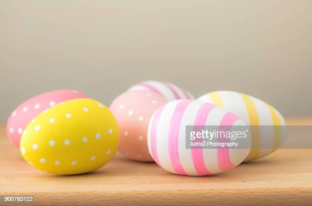 colorful easter eggs - easter religious background stock pictures, royalty-free photos & images