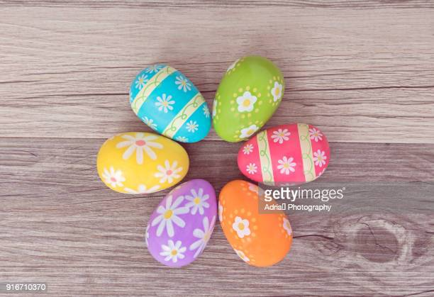 colorful easter eggs - easter egg stock pictures, royalty-free photos & images