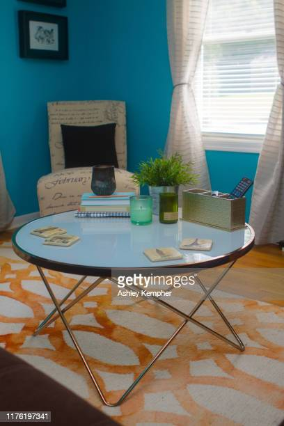 colorful eclectic living room 6 - ashley grace stock pictures, royalty-free photos & images