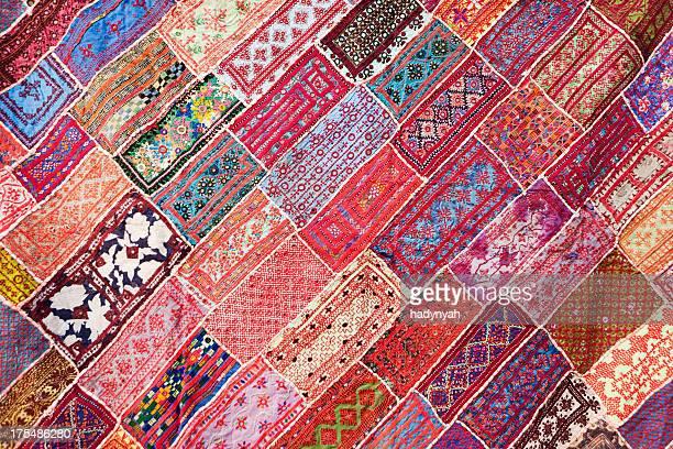 Colorido telas de la India