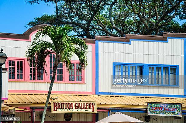 colorful facades - haleiwa stock photos and pictures
