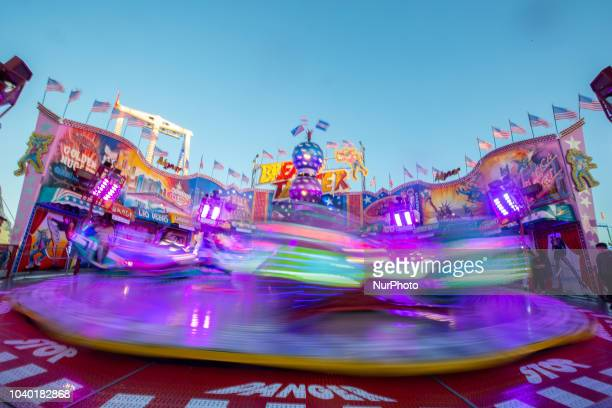 A colorful fairground ride on Day 4 of the Oktoberfest The Oktoberfest or Wiesn in Bavarian is the world's largest Volksfest It will take place from...
