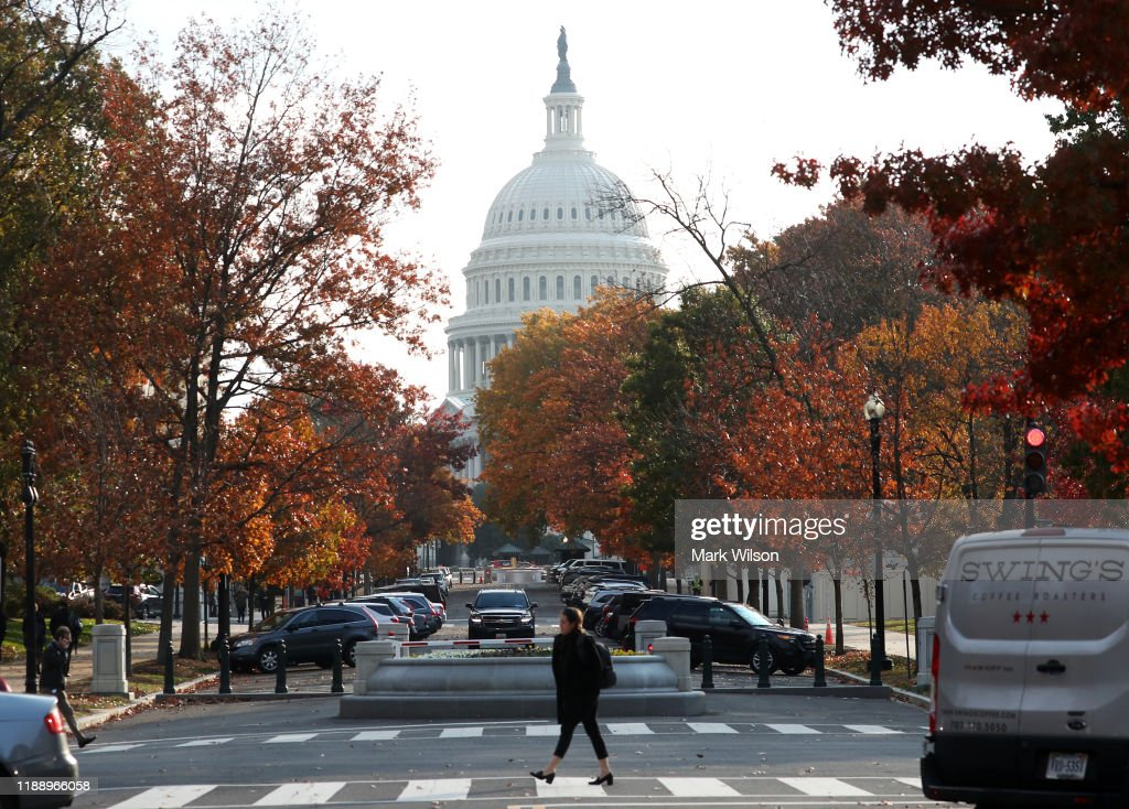 Fall Colors On Display In Front Of The U.S. Capitol : News Photo
