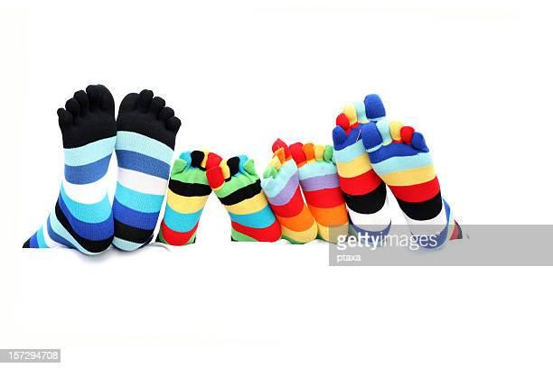 Colorful family socks