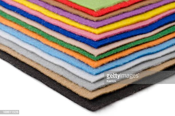 colorful felt plates - felt stock pictures, royalty-free photos & images