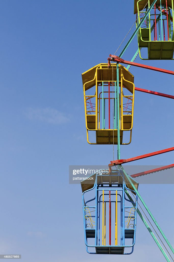 Colorful ferris wheel with blue sky : Stock Photo