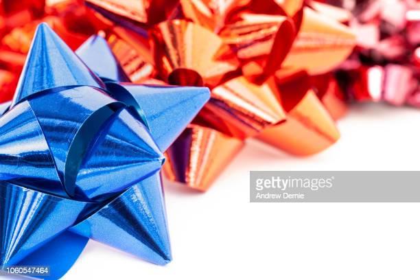 colorful festive bows - andrew dernie foto e immagini stock
