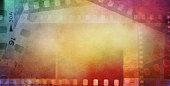 Colorful film frames