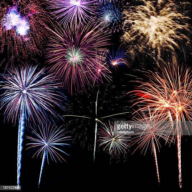 fundo colorido de fogos de artifício - quarta feira - fotografias e filmes do acervo
