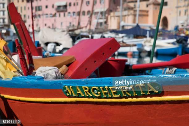 ELBA PORTOFERRAIO TOSCANA ITALY Colorful fisherman's dory