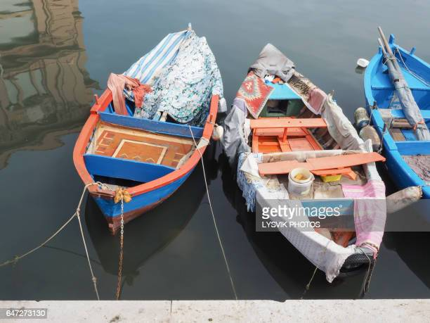 Colorful fishing boats, Bari