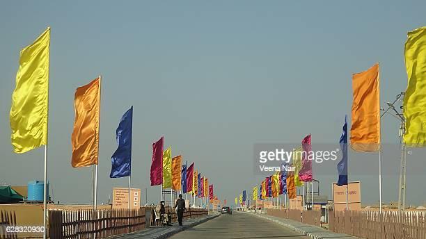 colorful flags at Rann Utsav-Dhordo-Kutch-Gujarat