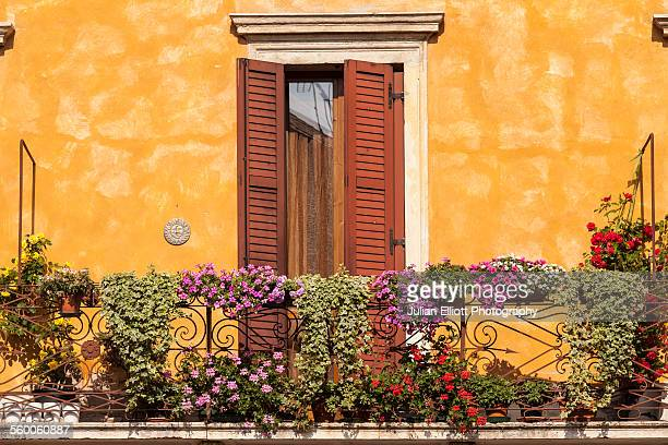 A colorful floral display in Verona, Italy