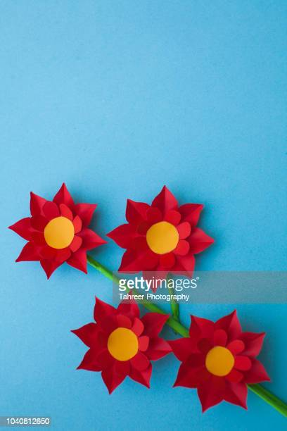 Colorful flower  paper origami