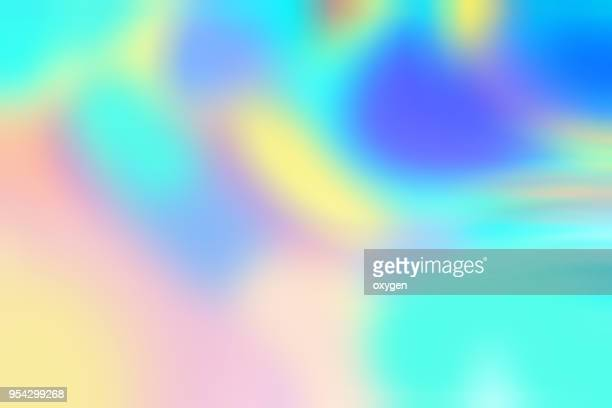 Colorful flowing chromatic holographic dynamic waves